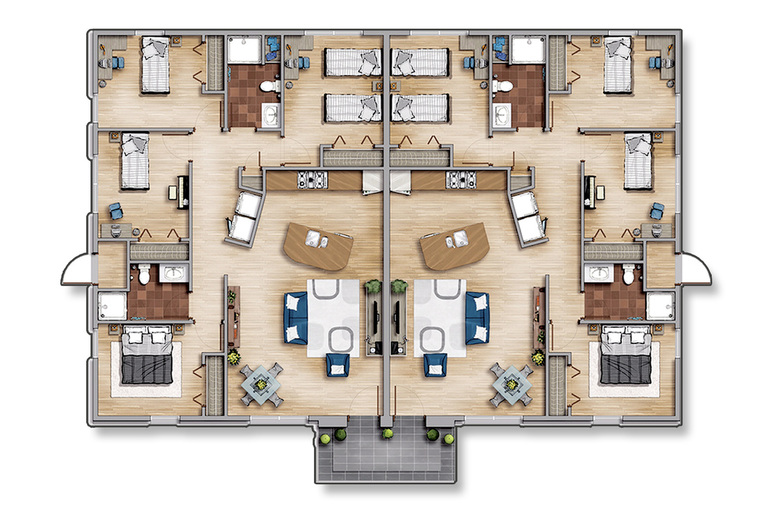 Floor Plan New saint francis student housing – Student Housing Floor Plans